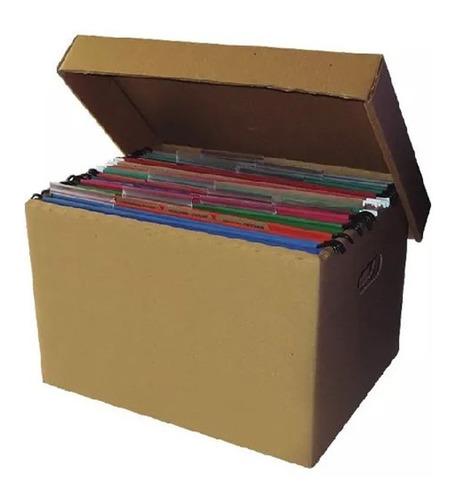 Caja De Cartón X300 Para Manejo Archivos Con Tapa Reforzada