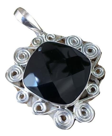 Cordão Colar Obsidiana Na Prata 925 Cl85