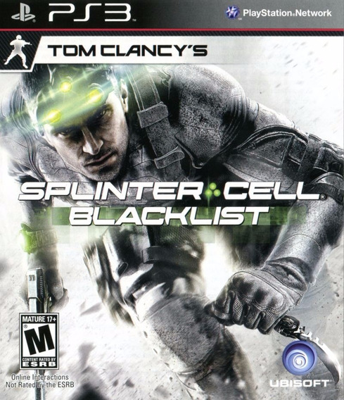 Jogo Splinter Cell Blacklist Ps3 Mídia Física Completo