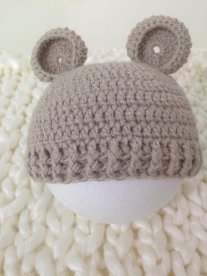 Gorro Orejitas (osito) Para Recién Nacidos - Bebés Newborn