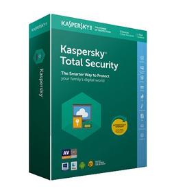 Kaspersky Total Security 3 Pc 1 Año 2018 2019 + Acronis