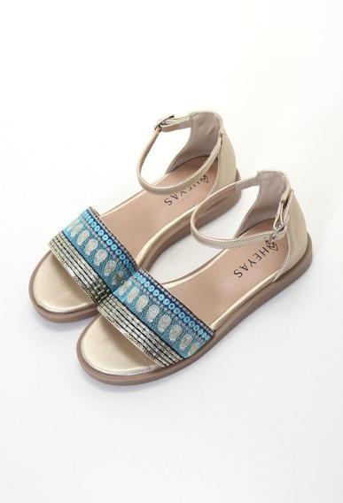 Sandalia Mujer Zapato Chatita Hindu Verano Haston Moda Heyas