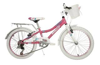 Bicicleta Philco Rodado 20 Cuadro De Acero Nena 6 Velocidade