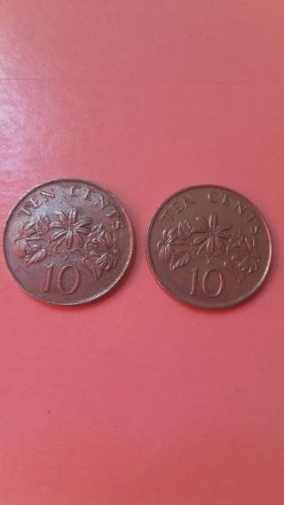 Monedas Singapur 10 Centavos 1986