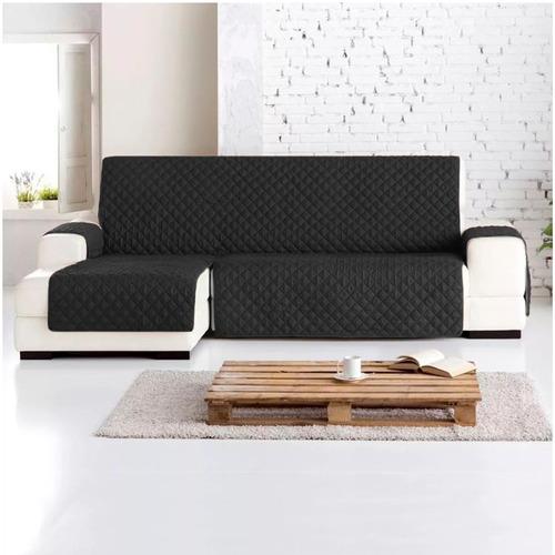 Imagen 1 de 2 de Protector Sofa L Izquierda Chaise Longue Normal Negro - Gris