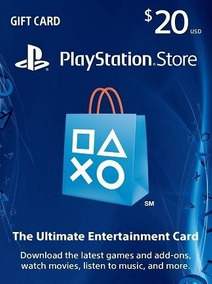 Card Psn $20 Playstation Network Store Dólares Usa