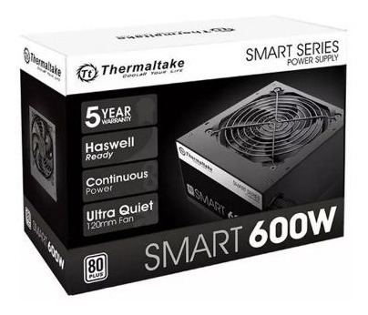 Fonte Gamer Thermaltake 600w Reais 80 Plus White