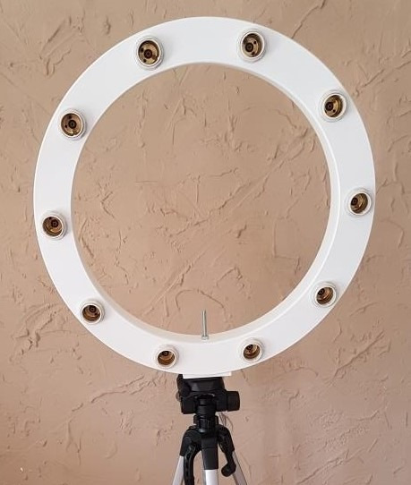 Ring Light 10 Lampadas Mod. Caixa + Tripé + Kit Selfie
