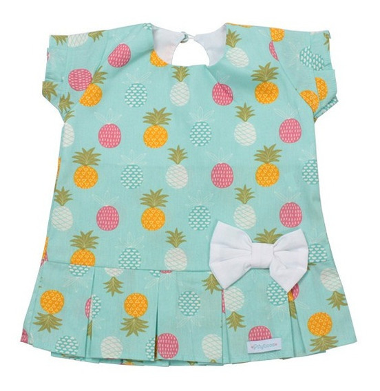 Vestido Infantil 100% Algodão Patricinha Abacaxi