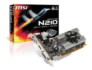 Placa de video Nvidia MSI GeForce 200 Series N210 N210-MD1G/D3 1GB