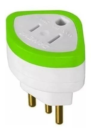 Pino (plug) Adaptador 2p+t 10a 1630 Daneva Kit C/12 Peças