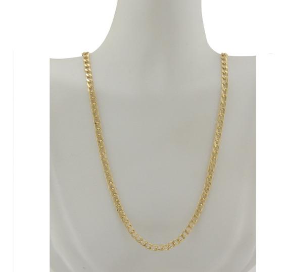 Cordão Feminino Corrente Grumet 3.4 45 Cm Ouro 18k 750. Fech