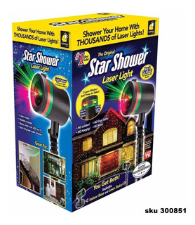 Proyector Laser Star Lluvia De Estrellas Navidad Decorar W01