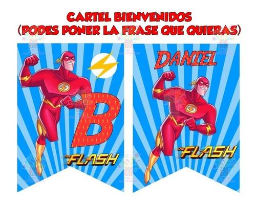 Envio a su Email Kit Imprimible Flash Super Heroe Candy Bar