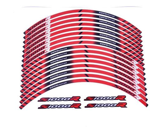 Kit Adesivos Friso Refletivo Roda Moto Bmw S1000r Fri030