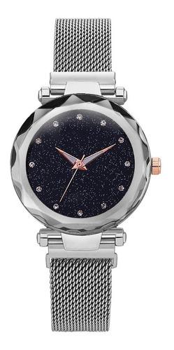 Reloj Magnetico  Acero Inoxidable Bateria Extra Gratis