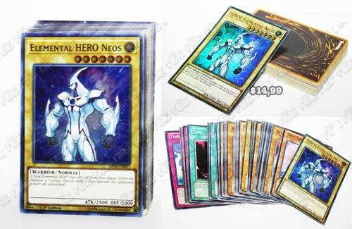 Imagen 1 de 5 de Set Anime Yu-gi-oh, Elemental Hero Neos (tienda Friki)