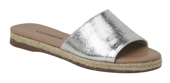 Sandalias Mujer Plateadasyute Vía Marte 18-11703 Importada