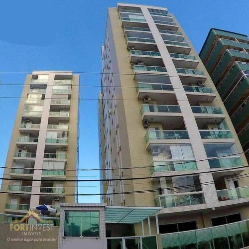 Imagem 1 de 19 de Apartamento Com 1 Dormitório À Venda, 46 M² Por R$ 225.000,00 - Canto Do Forte - Praia Grande/sp - Ap2542