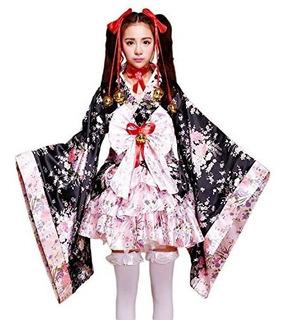Vsvo Anime Cosplay Lolita Halloween Disfraces Kimono Japonés