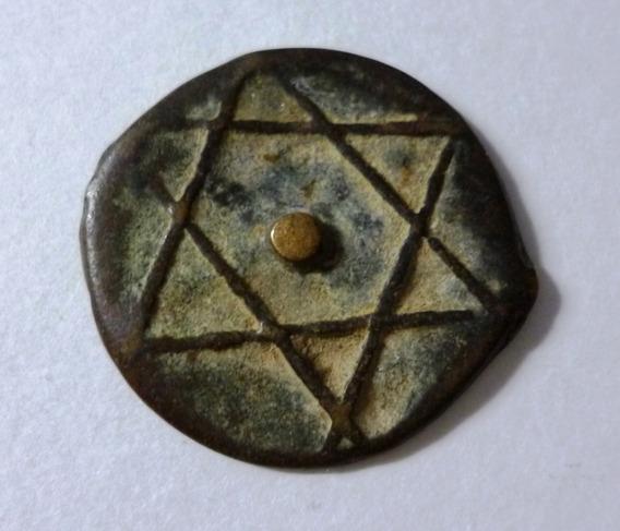 Marruecos Fes Moneda Bronce 2 Fulus 1862 Am 1279 C 163.2 M7