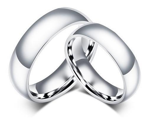 Aliança De Namoro Compromisso De Aço Inox Par Do 12 Ao 30