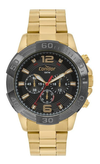 Relógio Masculino Condor Civic Covd54ay/4p 48mm Aço Dourado