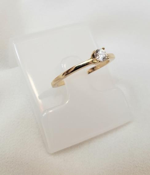 Solitario Vivara Em Ouro Amarelo Diamante 15 Pontos