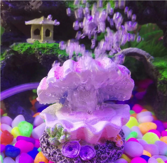 Enfeite E Ornamento De Aquario Concha Com Pérola C:4008