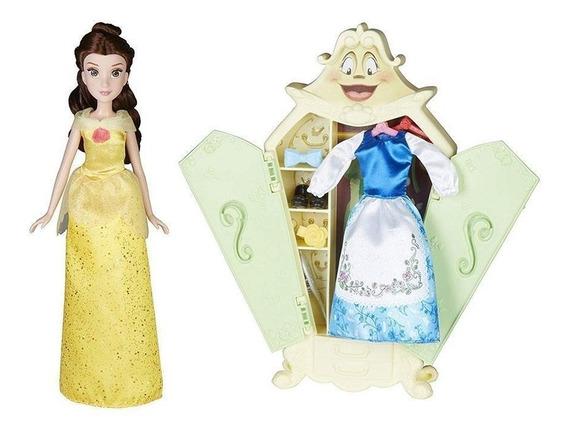 Muñeca Disney Princess Bella Guardarropa Con Estilo De Niña