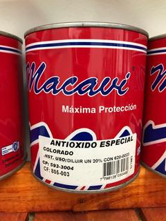 Pintura Antioxido Especial Colorado 900ml Linea Macavi