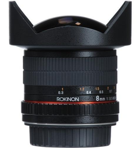 Lente Rokinon Fisheye 8mm F/3.5 Hd P/ Canon- Lacrada- B & H