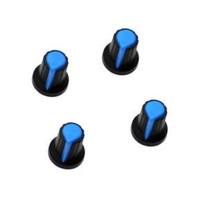 4x Knobs Para Potenciômetro Estriado Botão Volume
