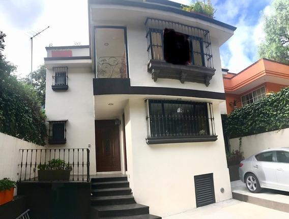 Tlacopac. Preciosa Casa Remodelada Estilo Colonial Con Roof Garden, En Renta