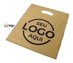 Sacola Personalizada Plastica 40x50 Alça Boca Palhaço 250un