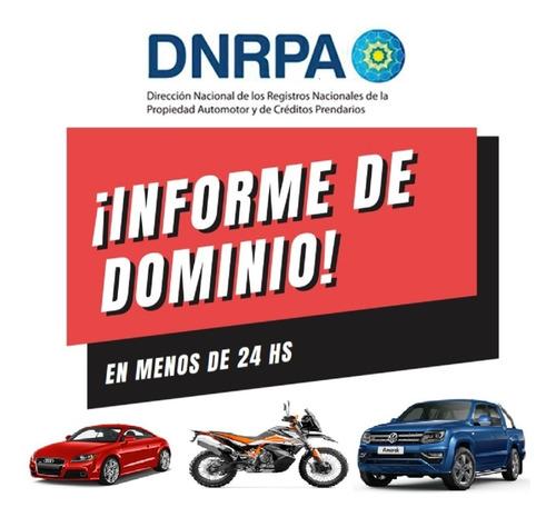Informe De Dominio Urgente Auto O Moto No Pagues De Mas !