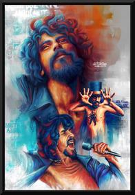Quadro Decorativo Raul Seixas Rock Arte Moldura 42x29cm