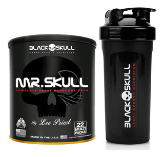 Mr Skull 22 Packs - Black Skull