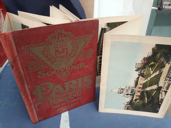 Antiguo Souvenir Postales De Paris Año 1930.