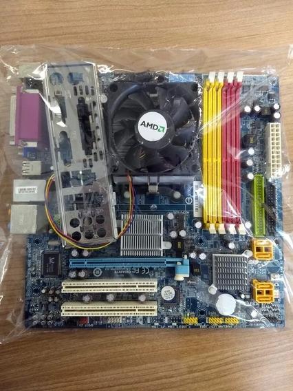 Kit Placa Mãe Amd Athlon Le 1640 Gigabyte Ga-ma69vm-s2 Ddr2