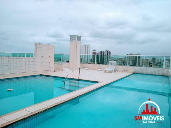 Apartamento Com 3 Dormitórios À Venda, 116 M² Por R$ 535.000 - Boqueirão - Praia Grande/sp - Ap0142