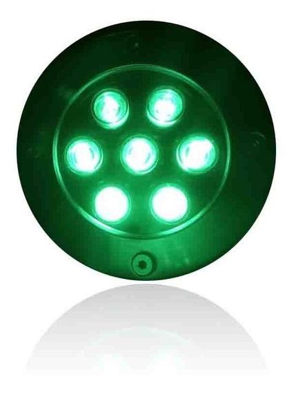 Balizador Luminária Led Chão Deck Jardim 7w Embutir Verde
