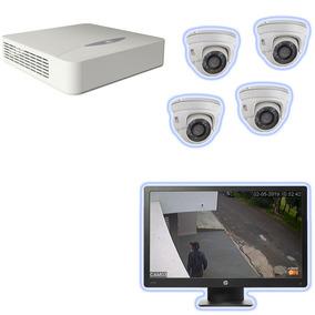 Kit 4x Câmera De Seguranças Toda Estrutura Para Casa/empresa