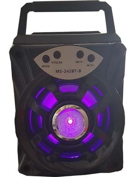 Caixa Som Bluetooth Mb242bt Portatil Usb Micro Sd Mp3 Radio