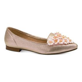 Gosh Zapatillas Flats Casual Piso Flores Dorados 0378801
