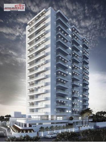 Apartamento Com 2 Dormitórios À Venda, 80 M² Por R$ 390.000,00 - Praia Grande - Praia Grande/sp - Ap3801