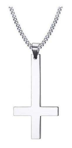 Imagen 1 de 4 de Collar De Plata 950 Dije Hombre Varon Cruz Cadena Joyas Oro
