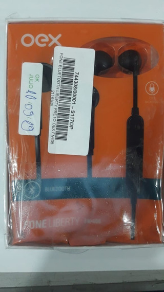 Fone Bluetooth Liberty Preto Oex Fn408 + Nf 744308