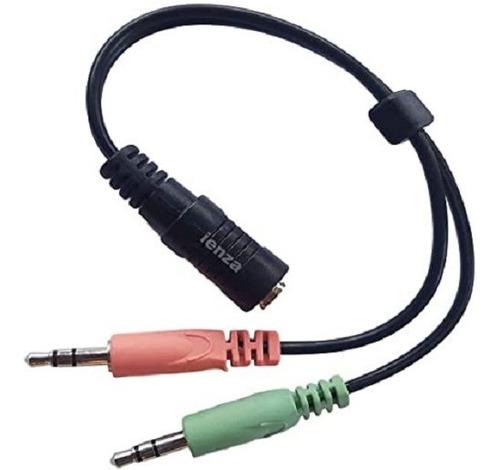 Imagen 1 de 1 de Cable Adaptador Audio 2 Miniplug Macho 3.5mm/1 Hembra 3.5mm