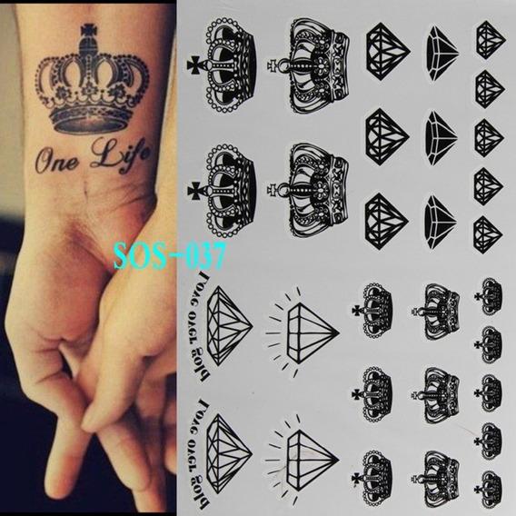 3 Tatuagens De Henna A Prova Dàgua Rainha E Rei